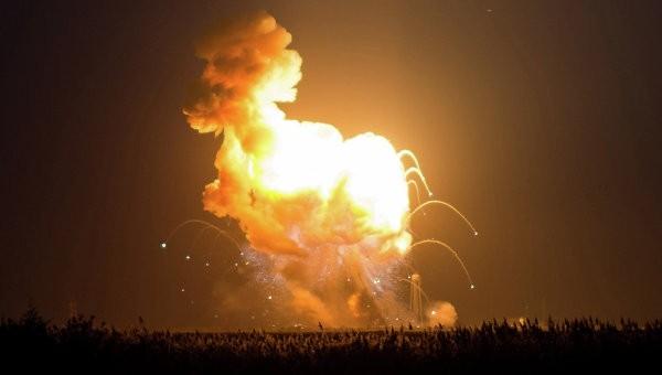 Antares взорвалась