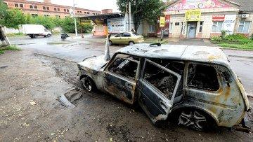 Украинский снаряд попал в маршрутку