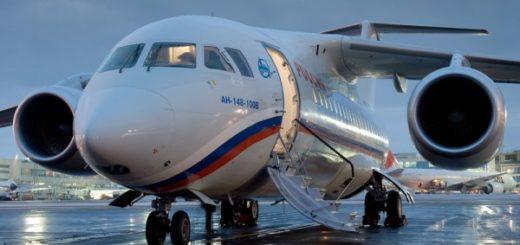Ан-148 после столкновения со стаей птиц