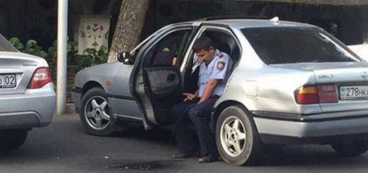 скандал с писающим полицейским