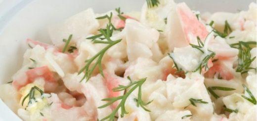 Салат из крабового мяса от Ланы-норд