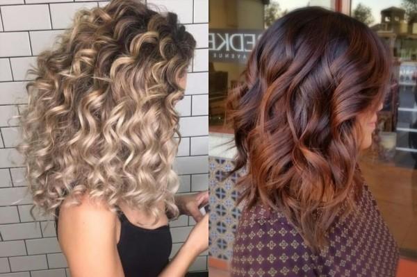балаяж на вьющихся волосах