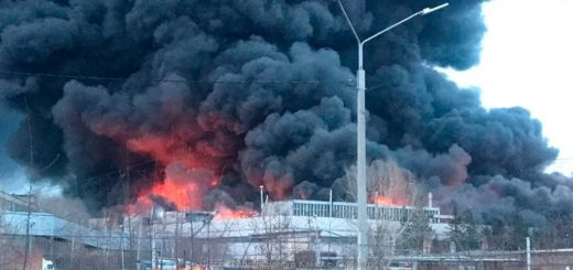 пожар на территории завода «КрасМаш»