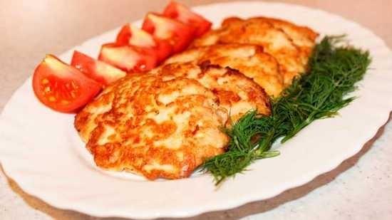 Куриные отбивные, приготовленные на сковороде