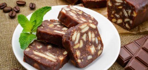 Приготовление шоколадной колбасы