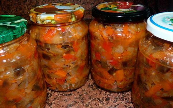 консервированный салат с баклажанами