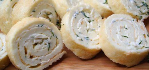 сырный рулет с начинкой