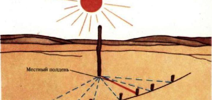 определяем время по солнцу